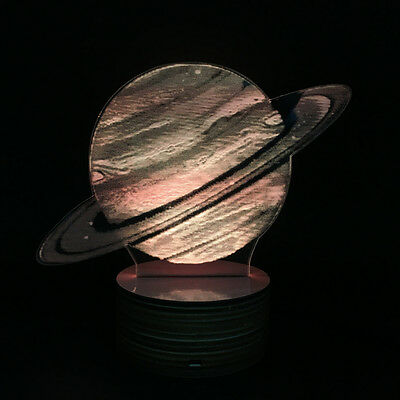 The Fastest Rotation Planet! 3D Optical Illusion Planet Jupiter Bulbing LED Lamp