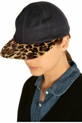 $300 Eugenia Kim Neiman Marcus 'darien' Hergestellt In Usa Denim Leopard