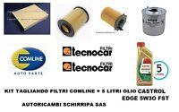 KIT TAGLIANDO FILTRI + OLIO CASTROL 5W30 FORD FOCUS 3 C-MAX 2 1.6 TDCi dal 2011