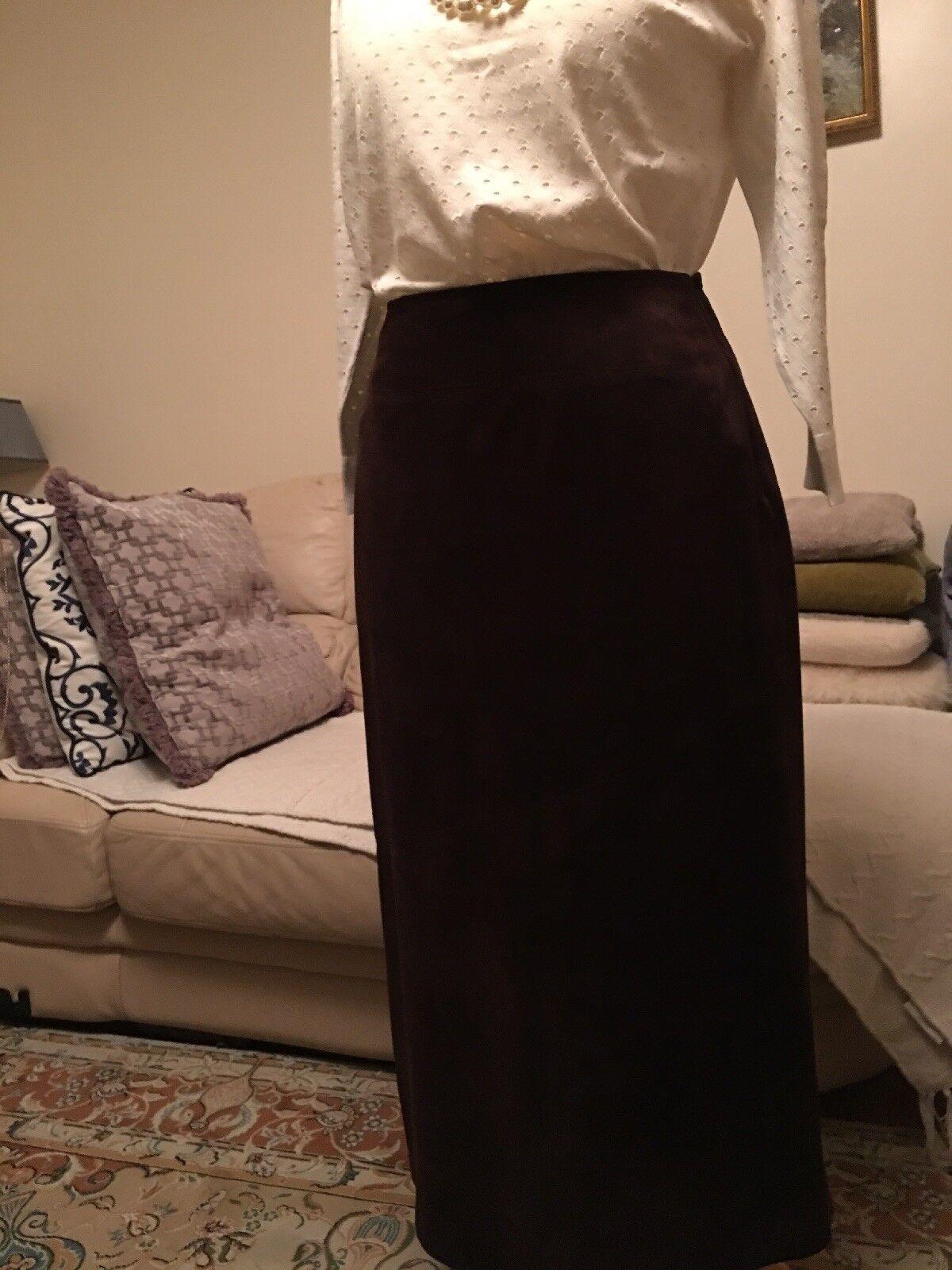 Boden Mujer Falda De Cuero Y Gamuza 100%, marrón, marrón, marrón, talla 10 bec152