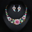 Fashion-Boho-Crystal-Pendant-Choker-Chain-Statement-Necklace-Earrings-Jewelry thumbnail 132