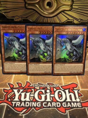 EN037 3x SET Yu-Gi-Oh! The Sea Turtle Kaiju 1st Ed DUDE 3x Gameciel