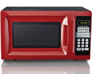 Hamilton Beach Countertop Microwave Oven Compact Kitchen .7 CU FT Appliance RED