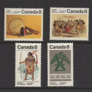 CANADA NO 574 TO 577, SUBARCTIC  INDIANS (NATIVE AMERICANS),  MINT NH