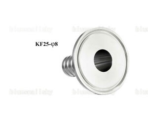 USA KF16 Flange to 8mm Rubber Hose Barb Adapter 304 Stainless Steel for Vacuum