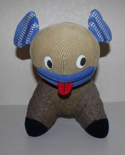 Pottery Barn Corduroy Tweed Plush Dog Ebay