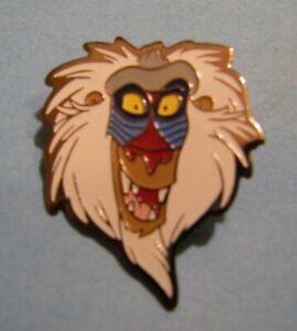 DISNEY-LION-KING-RAFIKI-head-CAPH-BELGIUM-vintage-pin-badge-Z4X