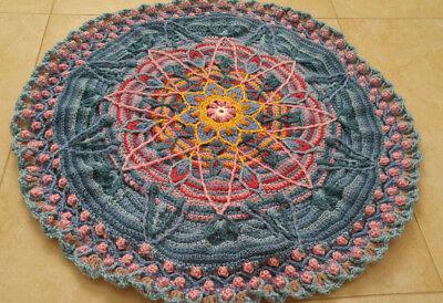 Round Rug 70cm Hand Crocheted
