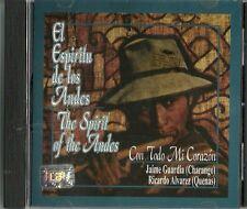 El Espíritu De Los Andes Con Todo Mi Corazon  Latin Music CD