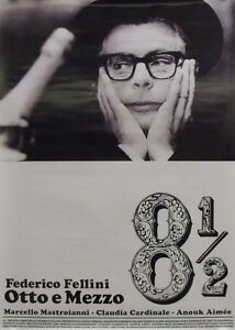 8 1/2 OTTO E MEZZO Japanese B2 movie poster A R08 FEDERICO FELLINI ...