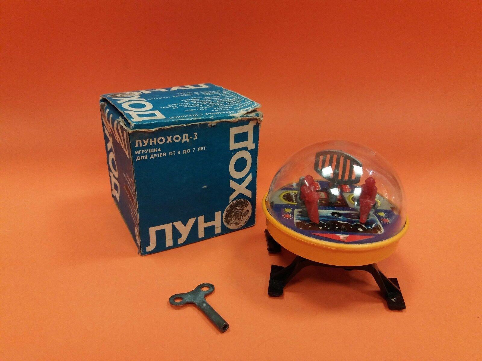 Das sowjetische raumfahrtprogramm der udssr selten wind-up spielzeug moonrover + box