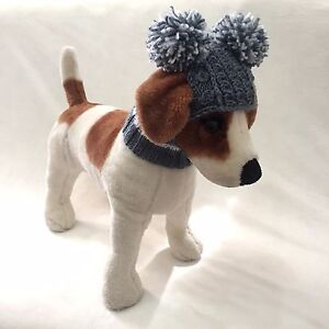 1d5e3ead7e6 Image is loading Handmade-Knit-Clothes-Pompom-Winter-Hat-for-Dogs-