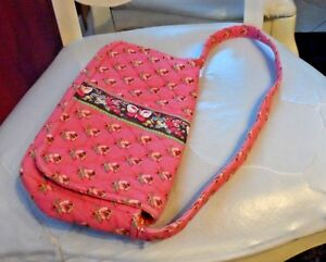 4471c0fe368 Image is loading Vera-Bradley-Jilly-bag-in-retired-Pink-Pansy-