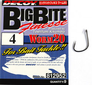 3279 Decoy Worm 220 Cover Finesse HD Worm Hooks Size 1//0