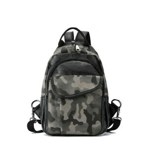 Convertible-Camo-Faux-Leather-Small-Mini-Backpack-Chest-Pack-Sling-Bag-Travel