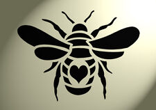 Shabby Chic Stencil Bumble bee Heart Back Rustic Mylar Vintage A5 148x210mm wall