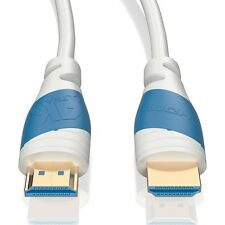 3m HDMI Kabel 2.0 Weiß | 4K U-HD High Speed 3D Ethernet | Für TV PS4 Xbox Beamer