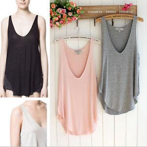 Fashion-Summer-Women-Sleeveless-Sexy-V-Neck-Vest-Blouse-Loose-Tank-Tops-T-shirt
