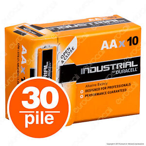 30-Batterie-Duracell-Industrial-Procell-Pile-Alcaline-Stilo-AA