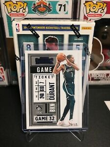 2020-21 PANINI CONTENDERS KEVIN DURANT GAME TICKET BLUE FOIL PARALLEL # /49 #49