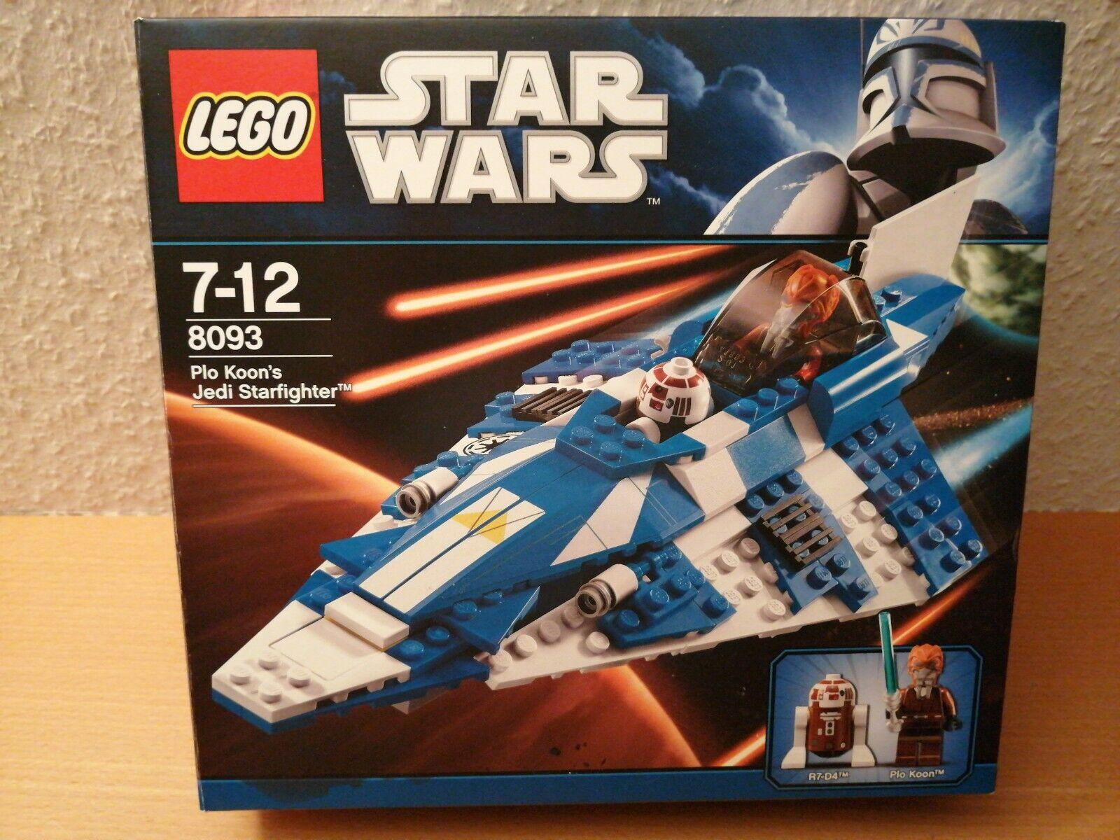 LEGO StarWars Plo Koon's Starfighter (8093) neuwertig komplett