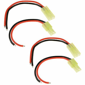 2-x-RC-Pairs-Male-Female-Tamiya-Mini-Battery-Connector-18awg-10cm-Wire