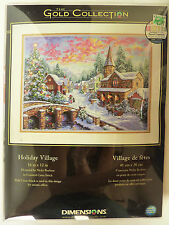 Dimensions Gold Collection Counted Cross Stitch Holiday Village Winter Christmas