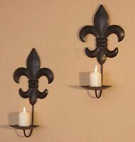 Wandkerzenhalter 2er-Set Kerzenhalter Teelichthalter Wandleuchter Wanddeko Deko