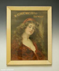 Historische-Reklame-unter-Glas-Dr-KERNHEIMM-s-Birken-Haarwasser-um-1910
