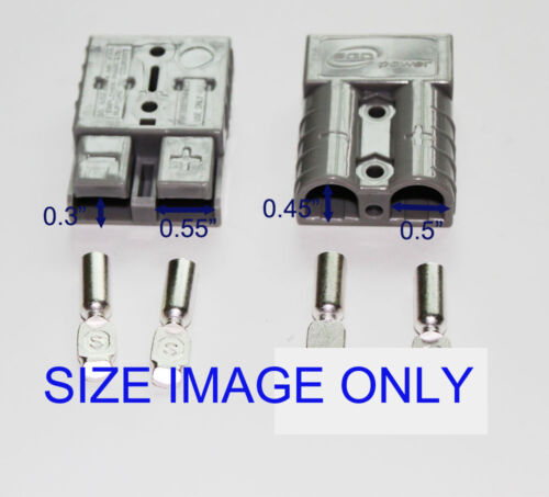 10PCS Battery Gray Quick Connect Disconnect Plug 50A 6AWG Trailer Connector