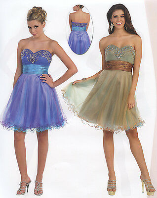3 COLORS COCKTAIL BRIDESMAIDS HOMECOMING SHORT PROM FORMAL DRESS BALL GOWN 4-20