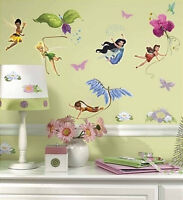 Disney Fairies Wall Stickers Tinkerbell 30 Big Decals Room Decor Rosetta Fawn +