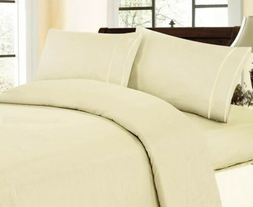 Solid Pattern All Size 4 PC Bed Sheet Set 1000TC Egyptian Cotton Extra Pocket