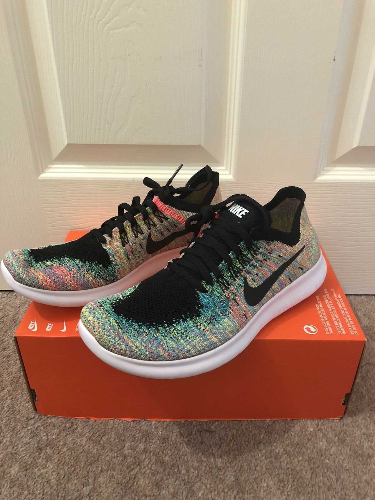 Para Mujer Nike Free rn Flyknit nos 2018 GS-Multicolor nos Flyknit 7Y-Bnew b160df