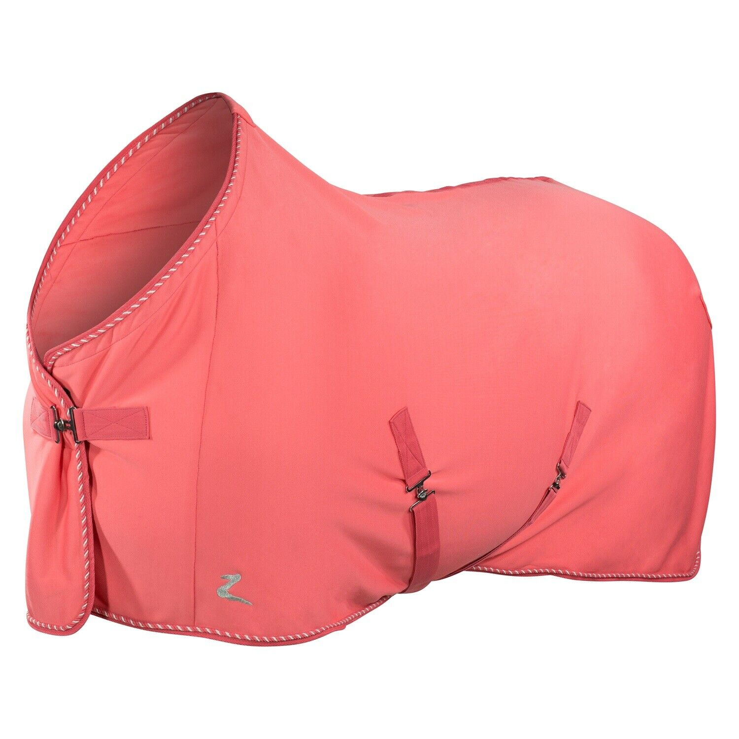 Horze PINK  75  Travel Show Bath Fleece Lined Polyester Adjustable Cooler Blanket  free delivery and returns
