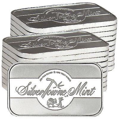 SilverTowne Mint Signature 1oz .999 Fine Silver Bar LOT of 20