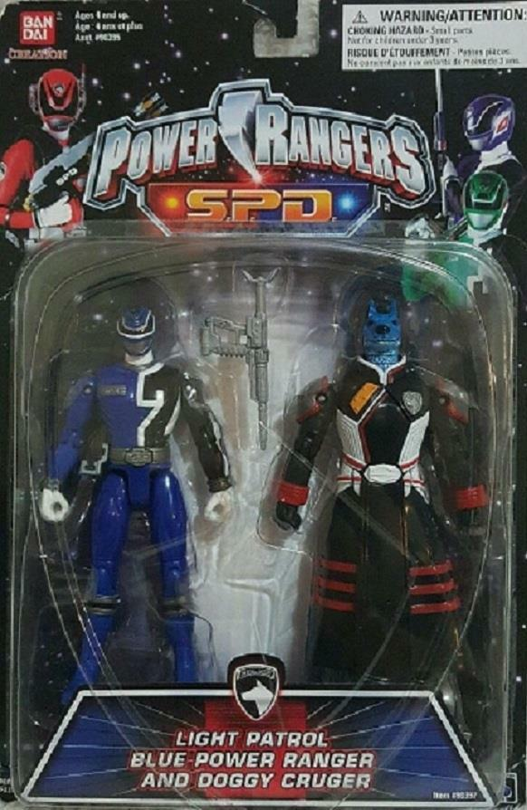 Power Rangers SPD Light Patrol Blau Ranger Doggy Cruger New 2004 Factory Sealed