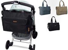 Baninni Wickeltasche mit Schultergurt Babypflege Design Schwarz BNDB002-BK