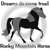 Rocky Mountain Horse Dreams Do Come True T-shirt Gold,silver,black