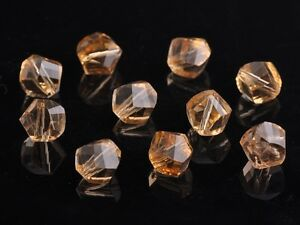 30pcs-10mm-Twist-Helix-Crystal-Glass-Finding-Loose-Spacer-Beads-Gold-Champagne