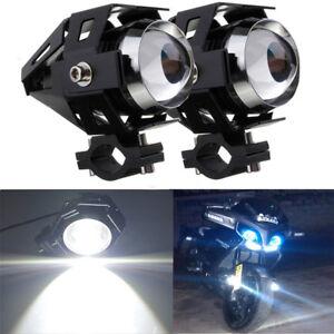 COPPIA-U5-LED-125w-3000lm-Faro-Anteriore-Fendinebbia-Lampada-Universale-Moto-ATV