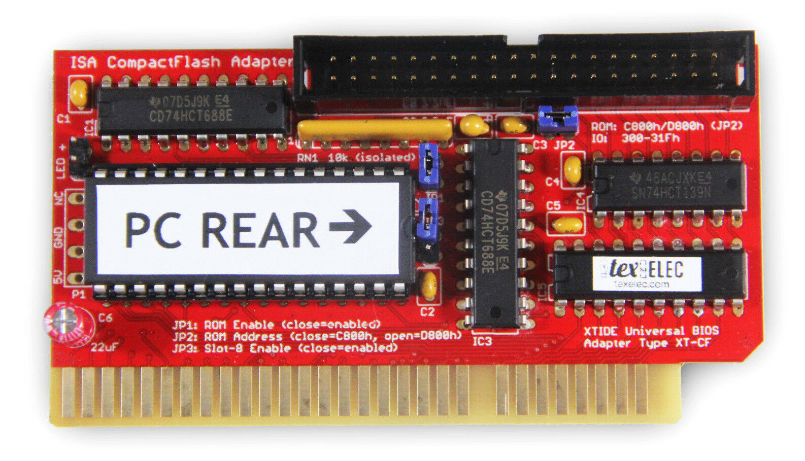 Lo-tech XT-IDE XT ISA to IDE CompactFlash Adapter - IDE for 8-Bit ISA - Tested