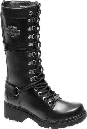 Harley-Davidson Women/'s Harland 11-Inch Black Mid-Calf Motorcycle Boots D83987