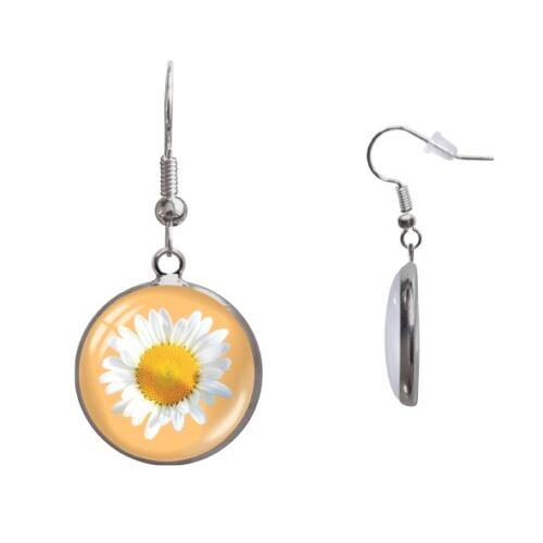 Ohrringe Ohrschmuck Blume Blüte Gänseblümchen 1Paar Ohrhänger Cabochon