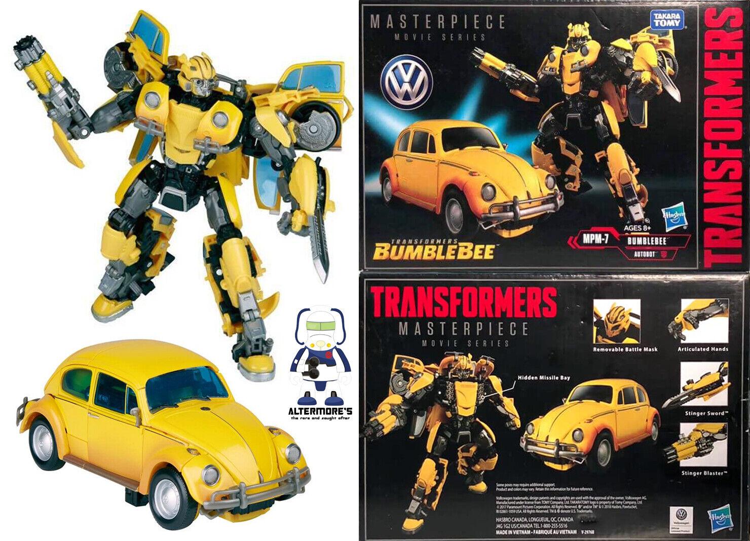 Película Transformers Hasbro obra maestra MPM-07 Volkswagen EsCocheabajo Bumblebee Y En Caja Sellada