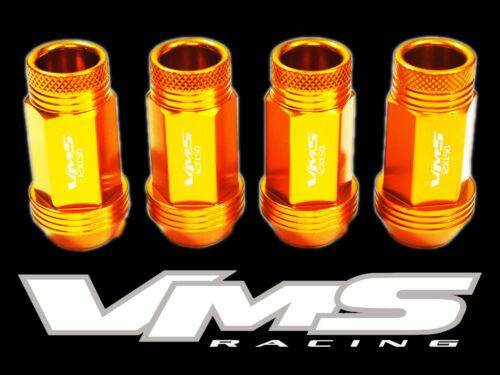 VMS RACING 24 48MM PREMIUM EXTENDED WHEEL ALUMINUM LUG NUTS 12X1.5 YELLOW GOLD B