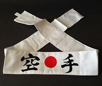 Japanese Martial Arts Sports Cotton Hachimaki karate Headband, Made In Japan