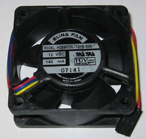 Elina 60 mm High Speed Cooling Fan - 12 V - 19 CFM - HDF6025L - 3 Pin Connector