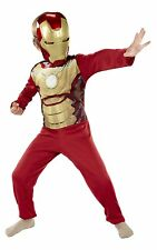Marvel Avengers Iron Man 3  Costume Mask & Jumpsuit Outfit Boy Kid 4/6x