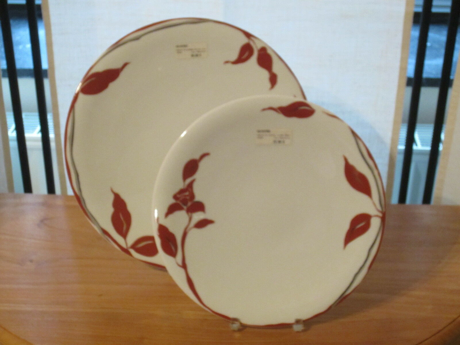 GUY DEGRENNE NEW TAHAA SAFRAN Set 2 Assiettes rondes Plates